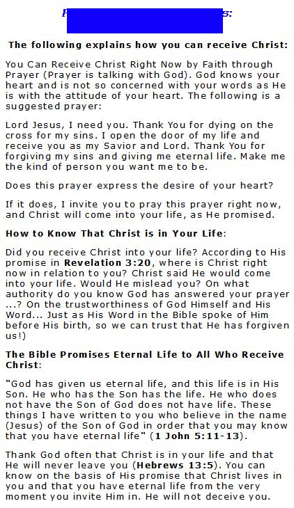 Salvation Prayers @ Jesus-abc.com
